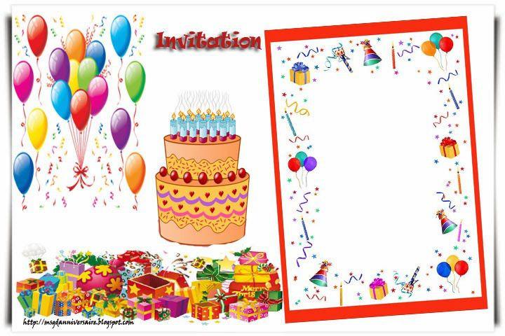 Carton D'Invitation Gratuit Best Of Carton D Invitation dedans Invitation Anniversaire Garçon 6 Ans