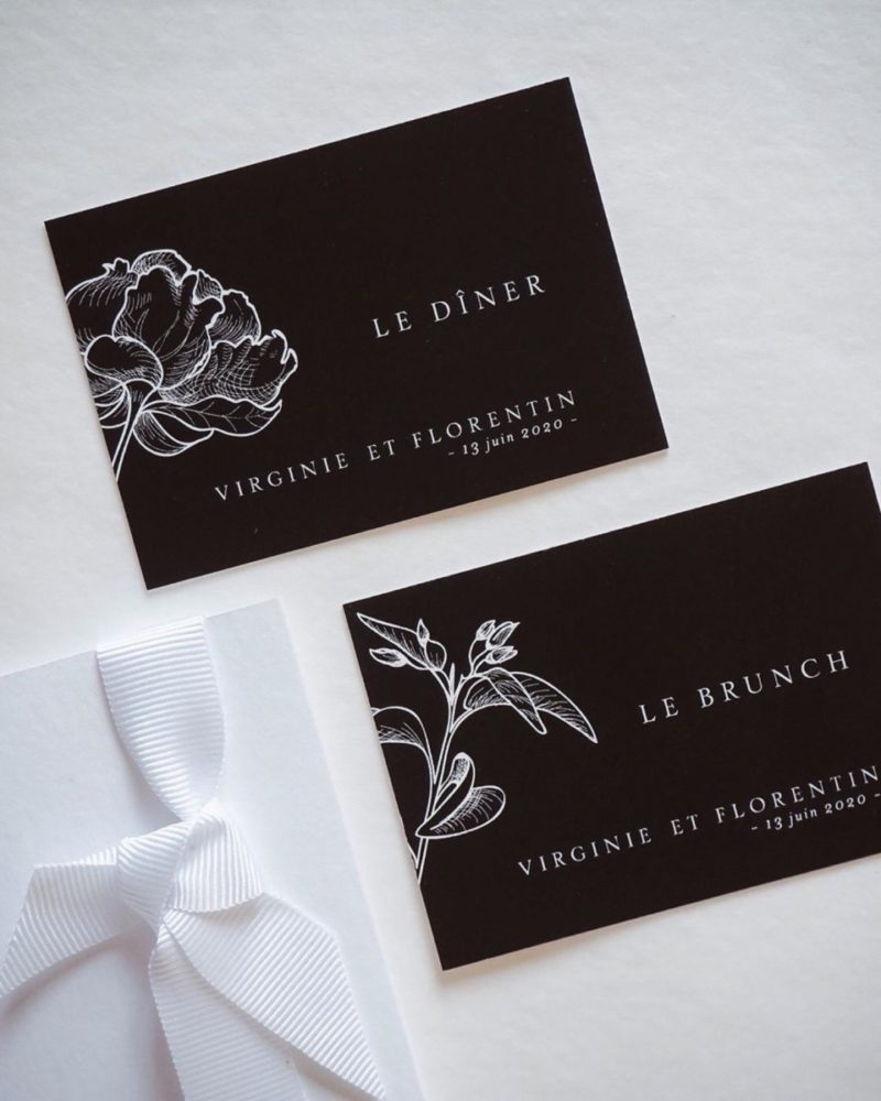 Carton D'Invitation Mariage Brunch Et Diner Imitation concernant Impression Carton Invitation