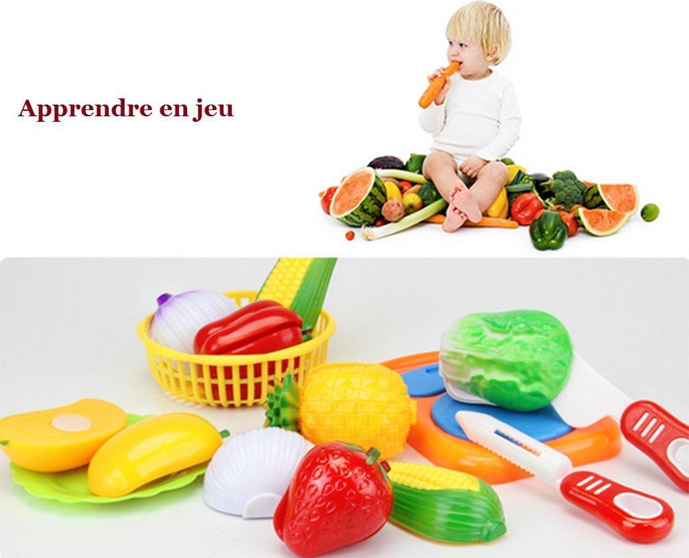 Cdet 24Pcs Jeu D'Imitation Coupe Fruits Légumes Jeu dedans Jeux Ou On Coupe Des Fruits