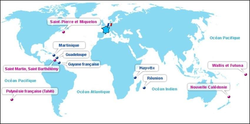 C'Est Quoi Les Départements, Territoires, Collectivités D destiné Numero Departement Outre Mer Francais