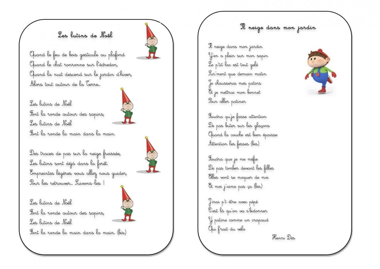 Chanson De Noel Ecole Maternelle concernant Poésie Le Père Noël Est Enrhumé