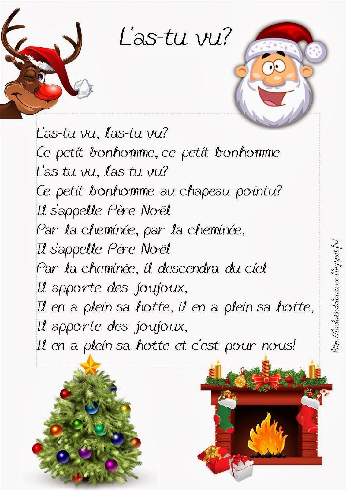 Chanson De Noel L'As Tu Vu Ce Petit Bonhomme destiné N De Noel