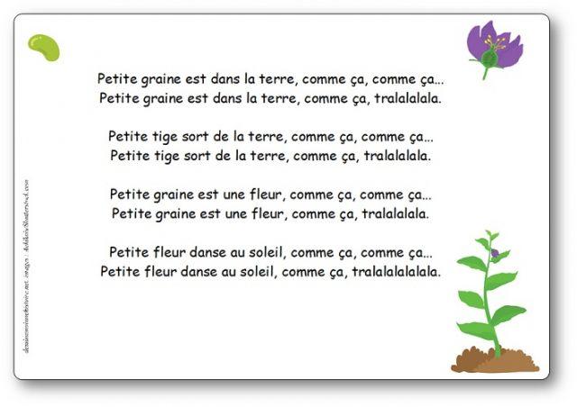 Chansons, Comptines Et Poésies Sur Les Fleurs, Le Jardin serapportantà Petite Fleur Chanson