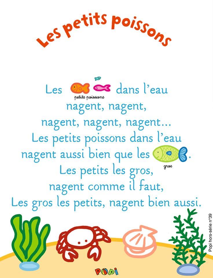 Chansons dedans Les Petis Poissons
