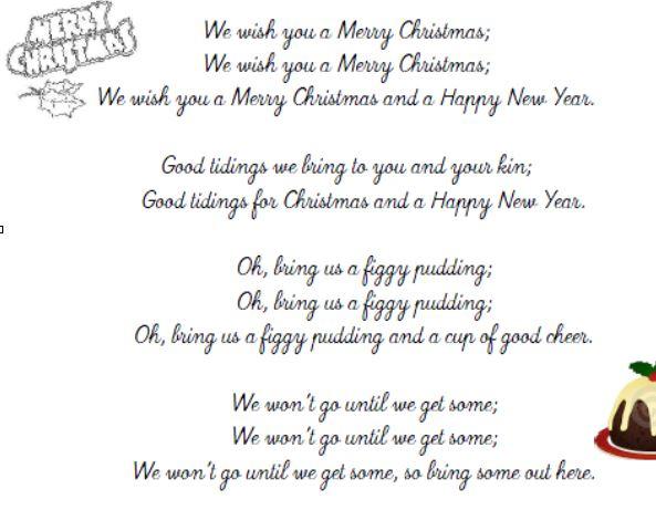 Chant De Noel Merry Christmas Anglais avec Parole De Musique En Anglais