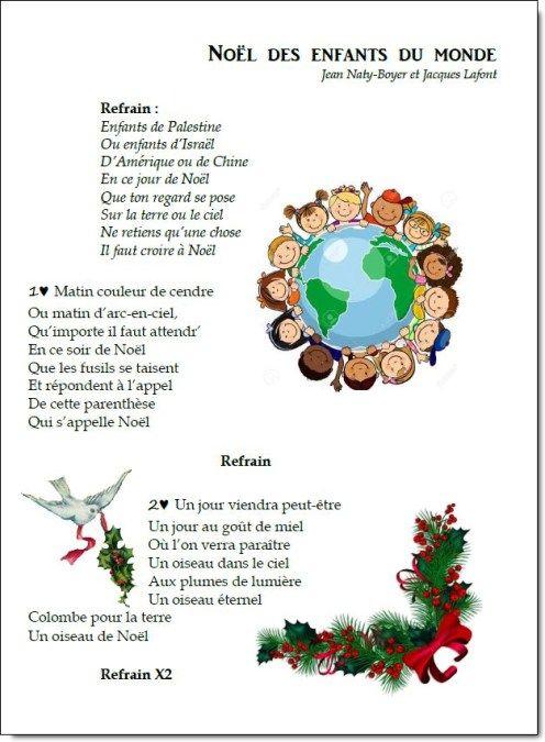 Chant - Noël Des Enfants Du Monde | Chanson De Noel pour Maitresse Chanson