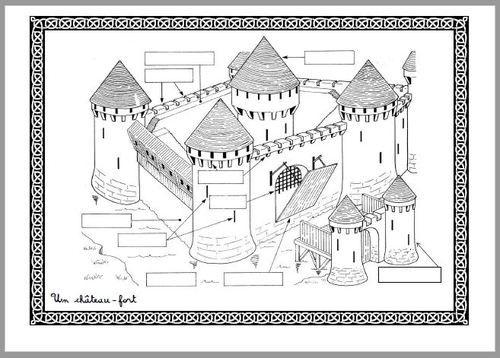 Château-Fort | Chateau Moyen Age, Histoire Cycle 3, Moyen destiné Lexique Moyen Age