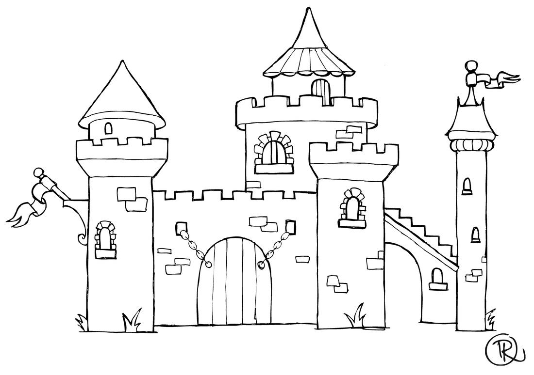 Chateau - L'Art À Pierre pour Dessin Chateau Fort Moyen Age