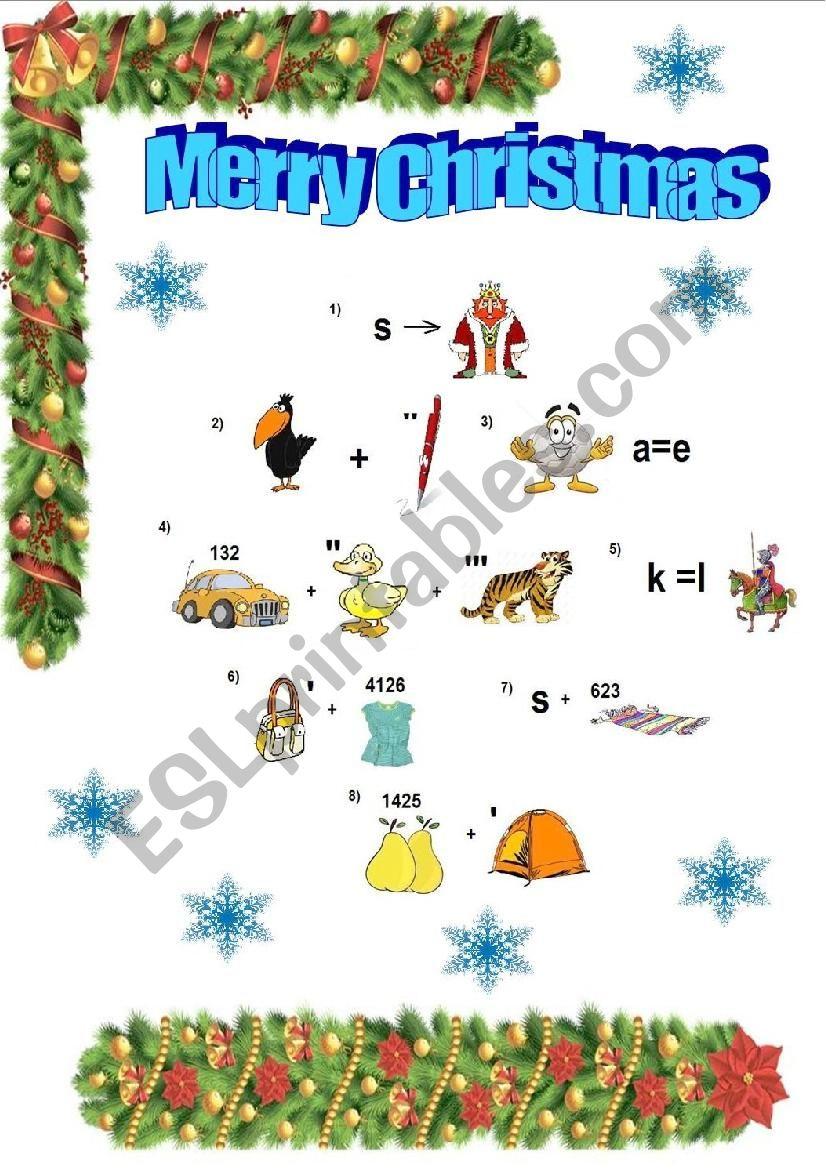 Christmas Rebus - Esl Worksheet By Ypeyl avec Rebus Noel