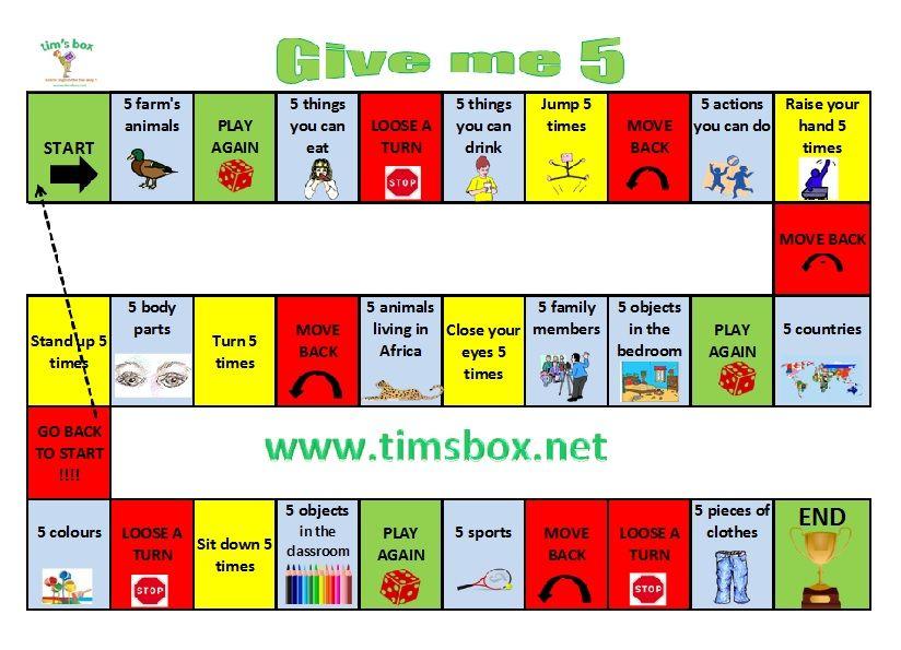 Classroom Games - Give Me 5 | Apprendre L'Anglais, La serapportantà Jeux En Anglais Gratuit