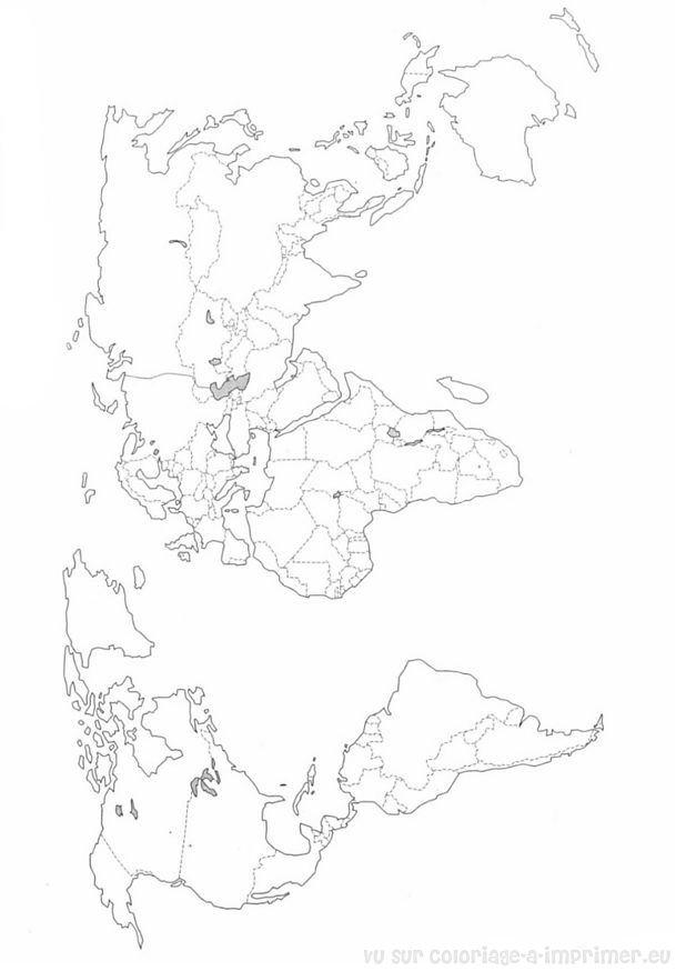 Coloriage À Imprimer Coloriage Cartes Geographie Monde à Dessin De Geographie