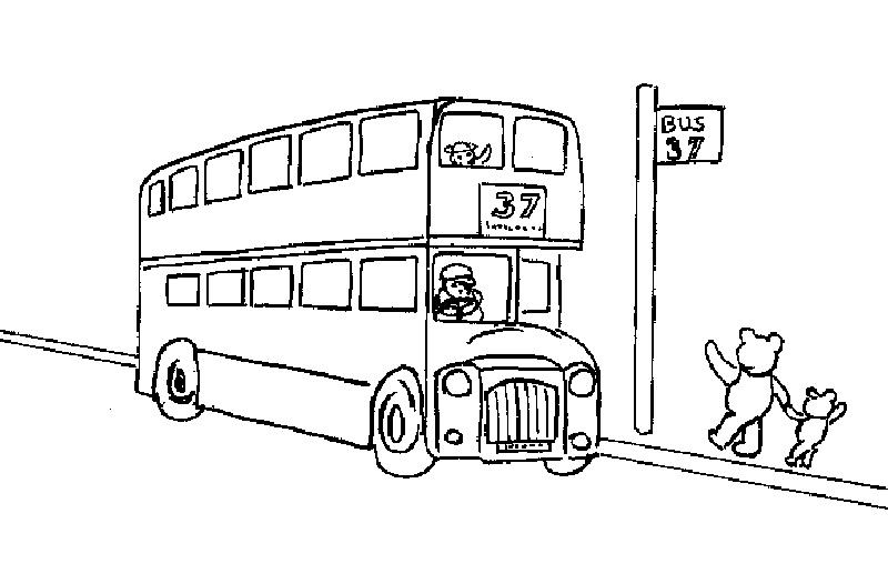 Coloriage Autobus serapportantà Dessin Bus