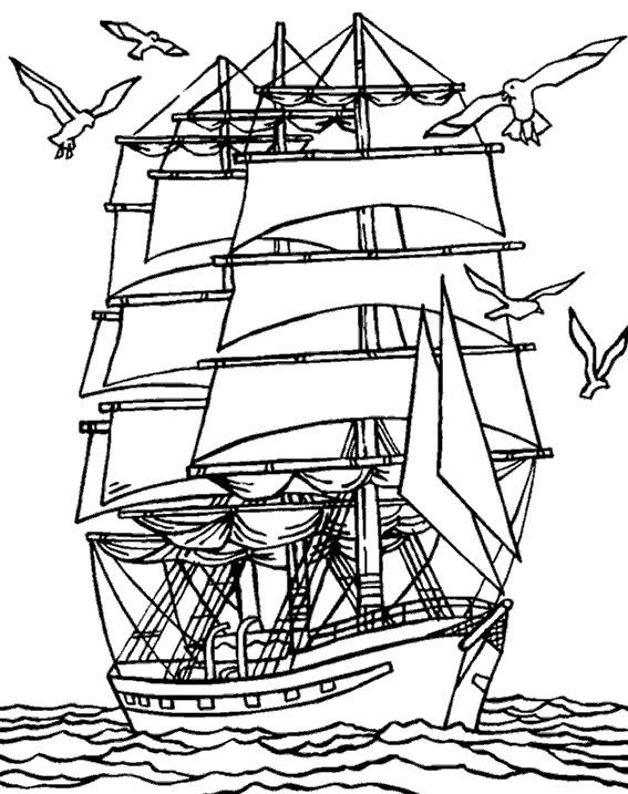 Coloriage Bateau Pirate Flotte Sur La Mer Dessin Gratuit À destiné Pirates Des Caraibes Dessin