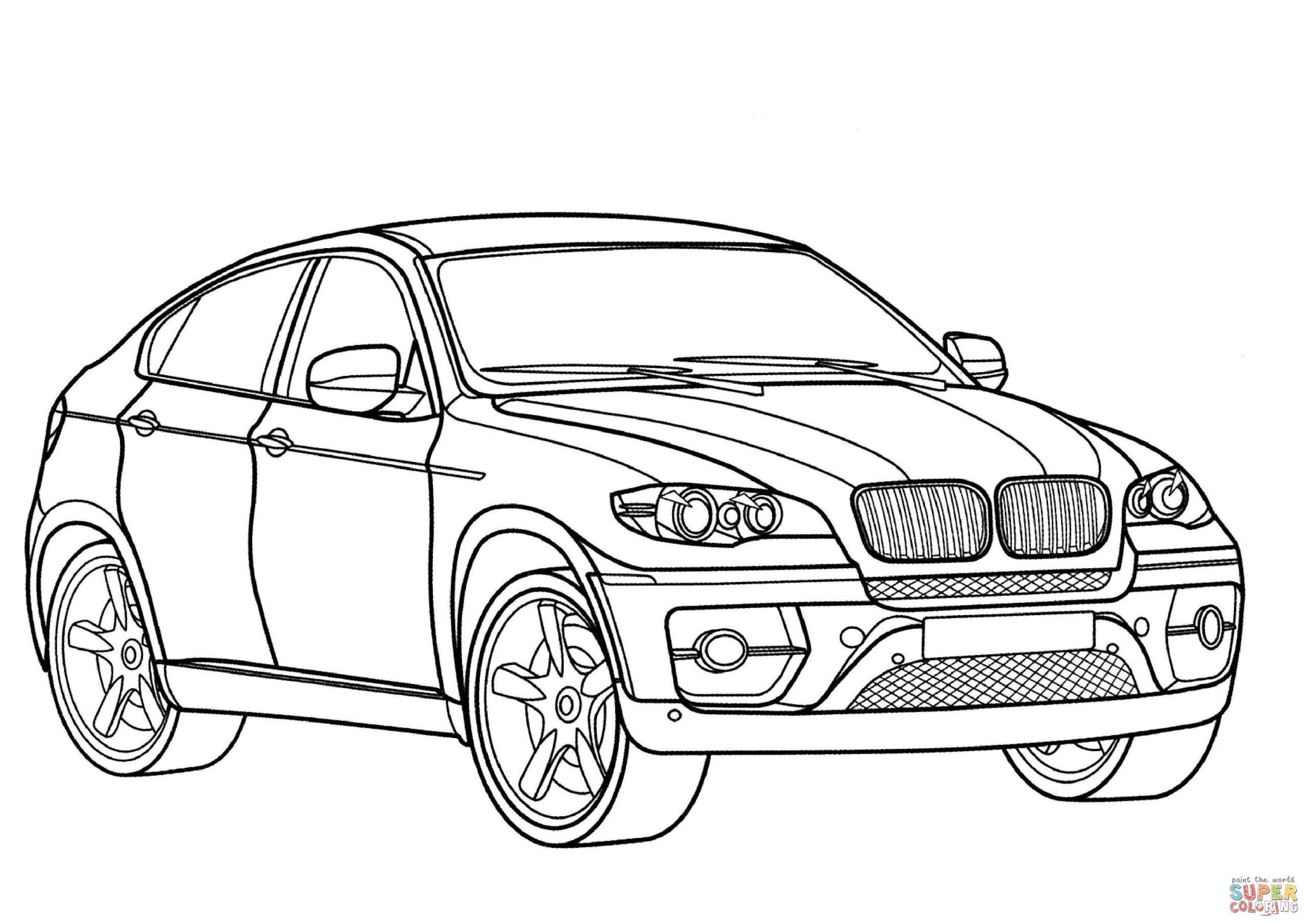 Coloriage - Bmw X6   Coloriages À Imprimer Gratuits pour Dessin Voiture Mercedes