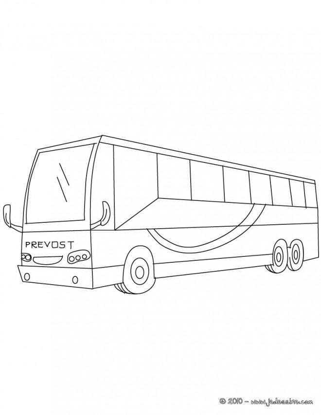 Coloriage Bus Stylisé Dessin Gratuit À Imprimer avec Dessin Bus