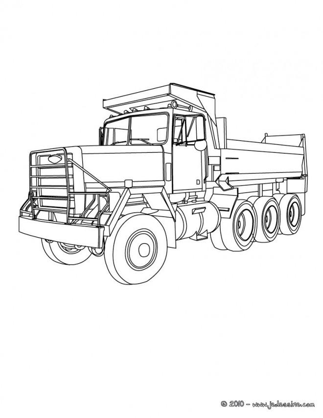 Coloriage Camion Benne Classique Dessin Gratuit À Imprimer à Dessin D Un Camion