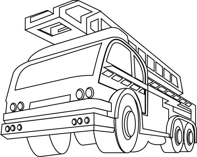 Coloriage Camion Pompier Vue De Face Dessin Gratuit À Imprimer dedans Dessin D Un Camion