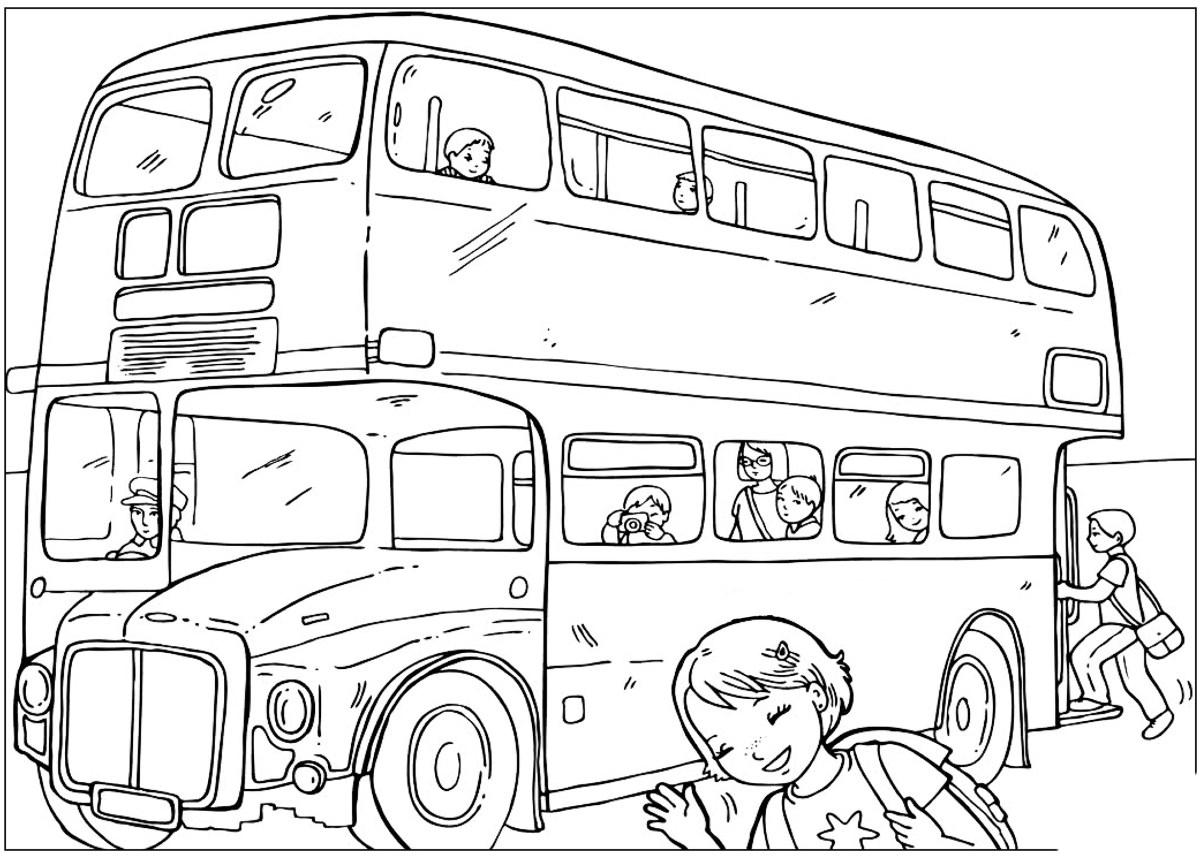 Coloriage - Capital Bus serapportantà Dessin Bus