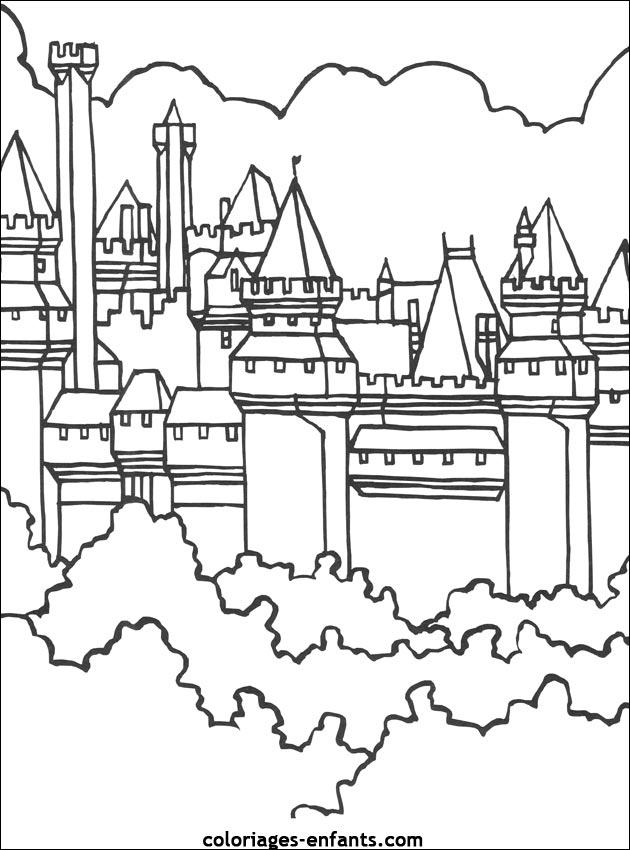 Coloriage Chateau Fort Maternelle - Coloriage Ideas serapportantà Dessin Chateau Fort Moyen Age