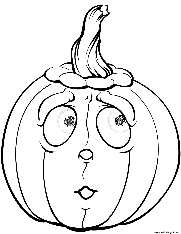 Coloriage Citrouille Qui A Peur Halloween Dessin Halloween encequiconcerne Dessin Citrouille Halloween Imprimer