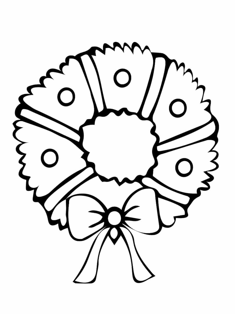 Coloriage Couronne De Noël : 20 Dessins À Imprimer serapportantà Couronne À Colorier