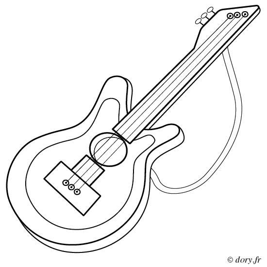 Coloriage De Guitare Classique A Imprimer - Coloriage Ideas destiné Note De Musique A Colorier