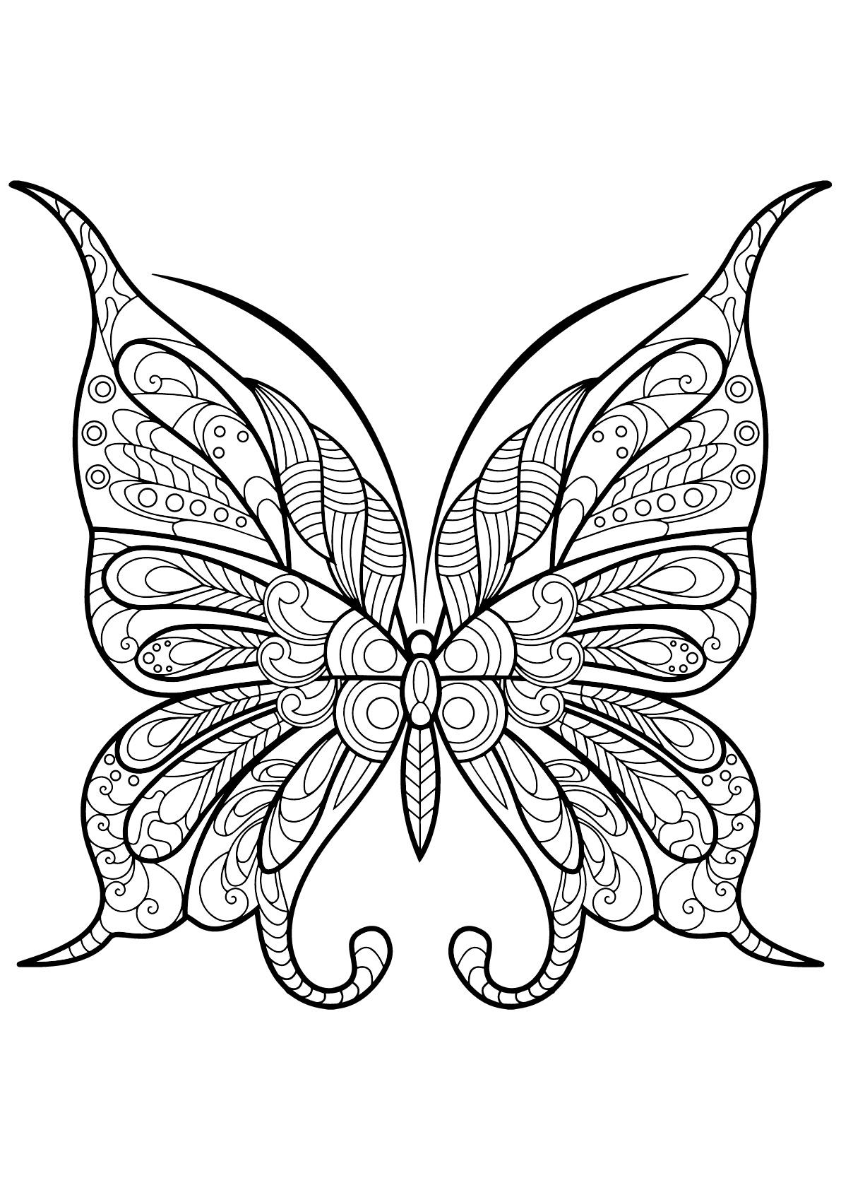 Coloriage De Papillons À Imprimer Gratuitement - Coloriage tout Dessin Papillon À Colorier