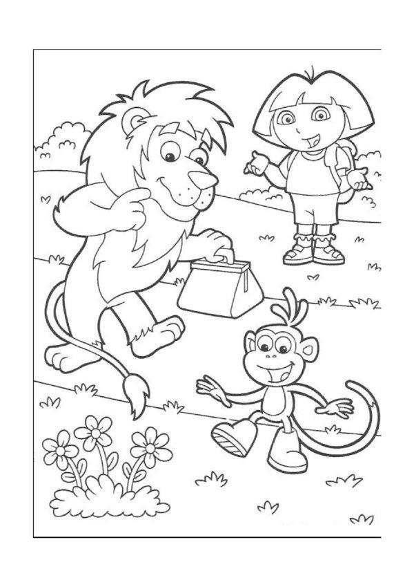 Coloriage Dessins. Dora L'Exploratrice 7 | Páginas Para encequiconcerne Coloriage Dora Princesse