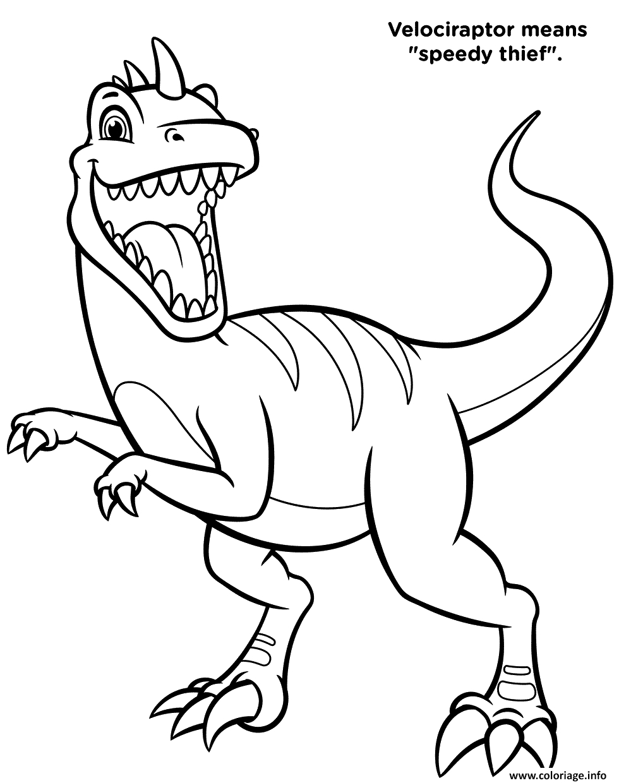 Coloriage Dinosaure Velociraptor Pat Patrouille Season 7 intérieur Coloriage Dinosaure Imprimer