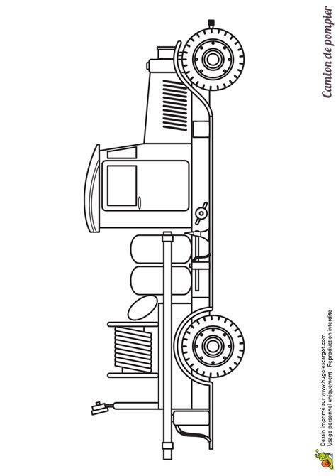 Coloriage D'Un Très Vieux Camion De Pompier pour Dessin D Un Camion