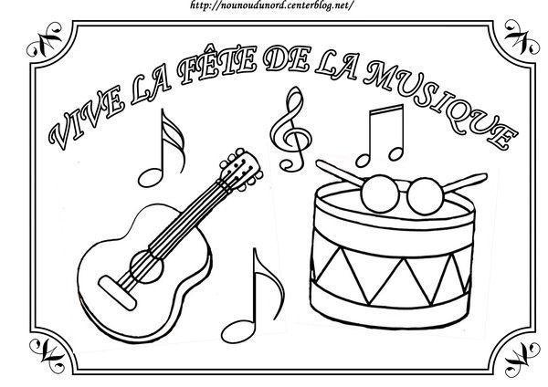 Coloriage Fête De La Musique - Dessin Fete De La Musique à Note De Musique A Colorier