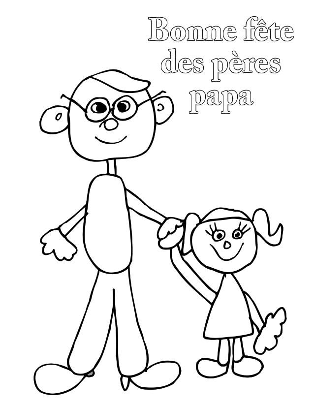 Coloriage Fête Des Pères À Imprimer Gratuitement pour Coloriage Fete Des Peres A Imprimer Gratuit