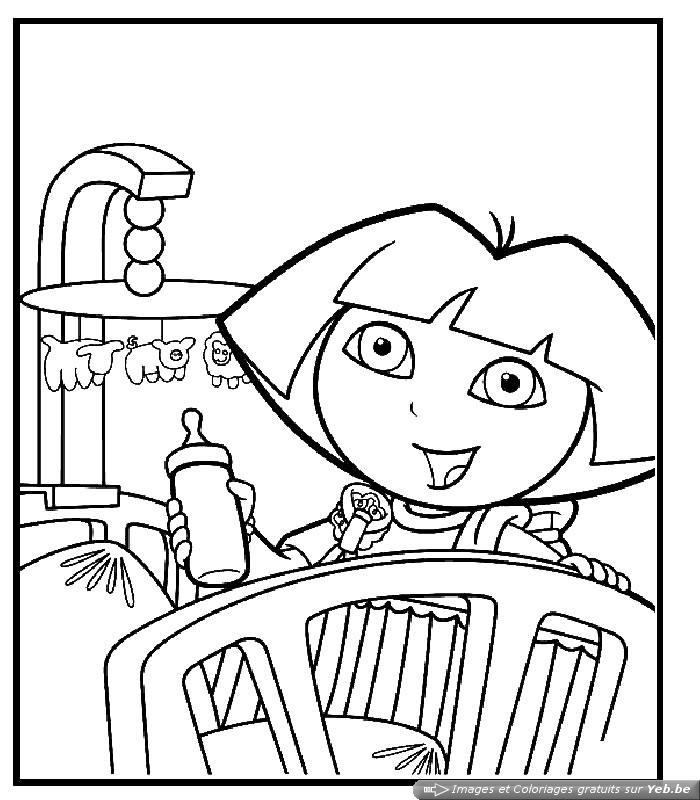 Coloriage Fr: Coloriage Gratuit A Imprimer Dora Princesse pour Coloriage Dora Princesse