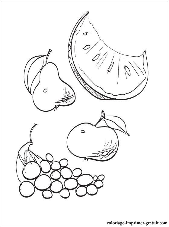 Coloriage Fruits D'Automne A Colorier   Coloriage À concernant Dessin Fruits D Automne