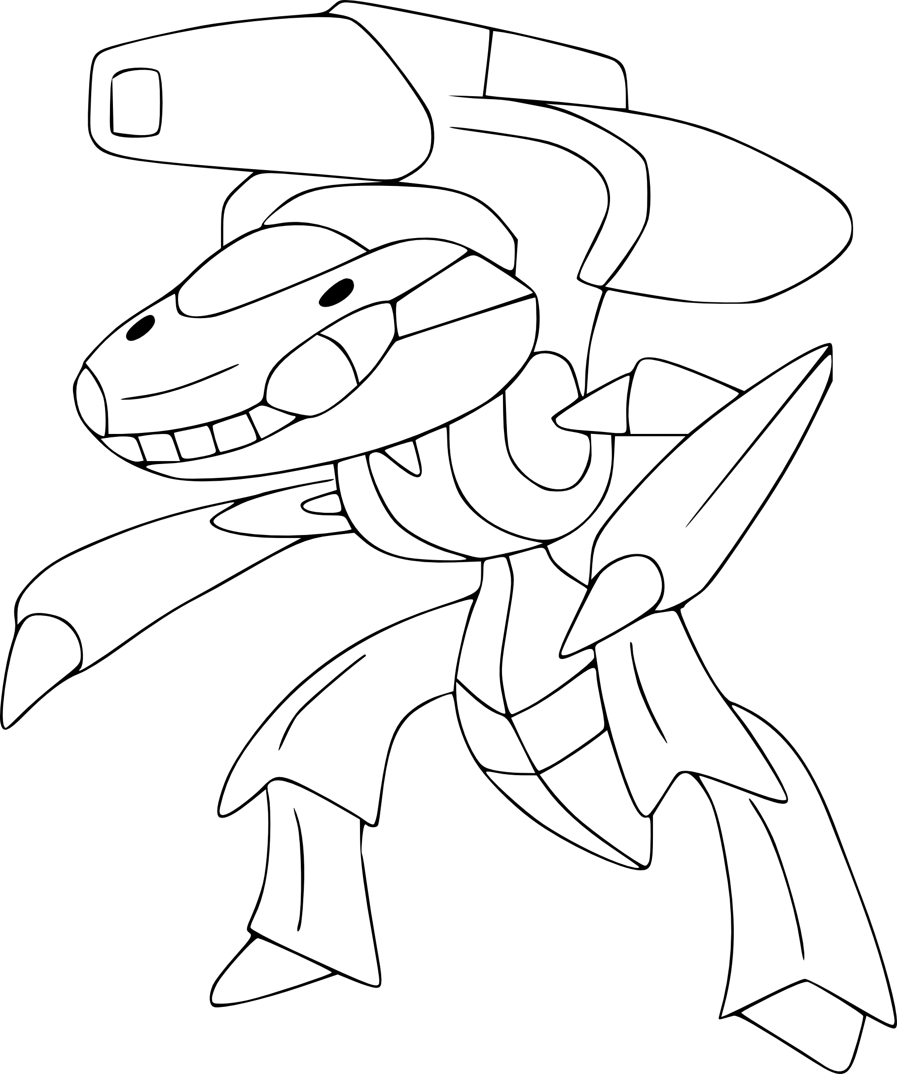 Coloriage Genesect Pokemon À Imprimer concernant Coloriage De Pokémon Légendaire