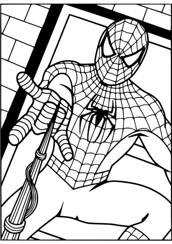 Coloriage Gratuit Spiderman 3 Imprimer à Dessin Spiderman À Colorier Gratuit