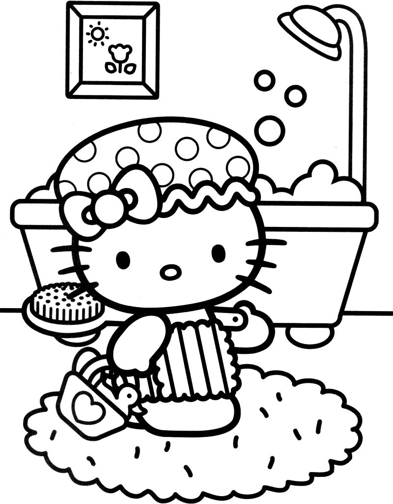 Coloriage Hello Kitty #36742 (Dessins Animés) - Album De tout Hello Kitty Dessin Animé En Francais