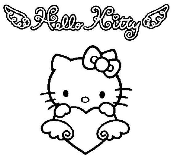 Coloriage Hello Kitty Aimable Dessin Gratuit À Imprimer à Hello Kitty Dessin Animé En Francais