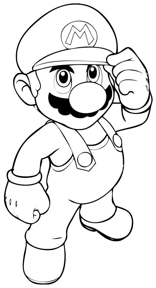 Coloriage Jeux Video Super Mario Dessin Gratuit À Imprimer serapportantà Personnage A Colorier