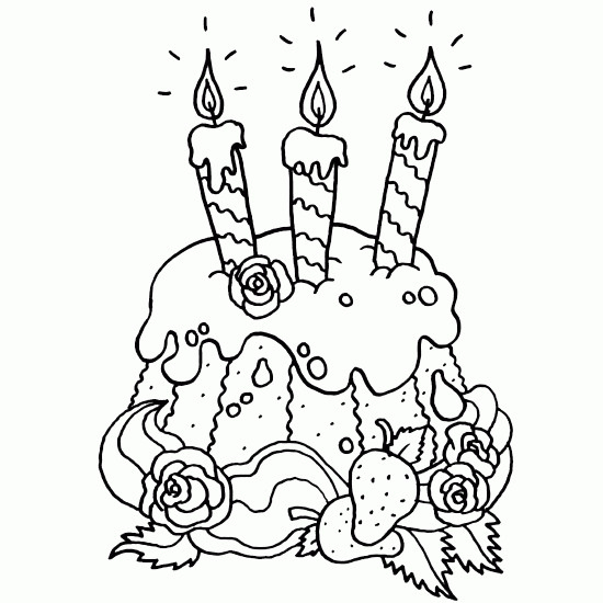 Coloriage Jolie Gâteau Pour Anniversaire Dessin Gratuit À tout Dessin Pour Anniversaire Adulte