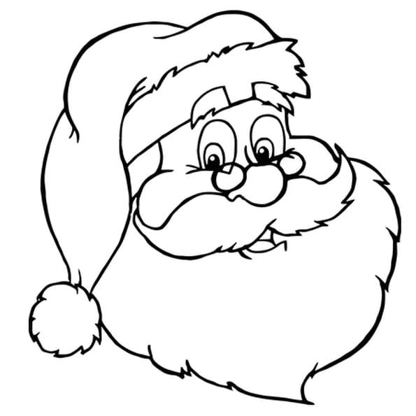Coloriage Jolie Tête De Père Noël En Ligne Gratuit À Imprimer à Dessin A Imprimer Pere Noel Gratuit