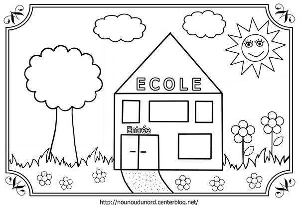 Coloriage La Petite École Pour Enfant Dessin Gratuit À avec Coloriage Pour La Maitresse