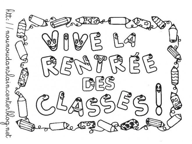 Coloriage La Rentrée Des Classes Dessin Gratuit À Imprimer destiné La Rentrée Maternelle