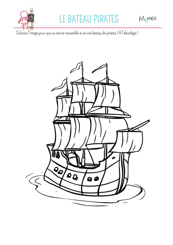 Coloriage Le Bateau Pirates | Momes encequiconcerne Coloriage De Pirates A Imprimer Gratuit