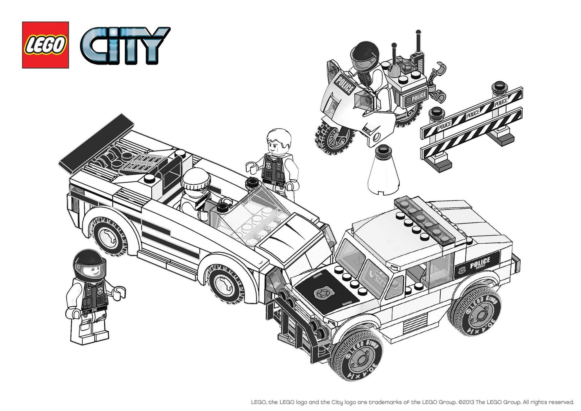 Coloriage Lego City : L'Arrestation - Coloriage Lego City encequiconcerne Dessin Animé Lego Police