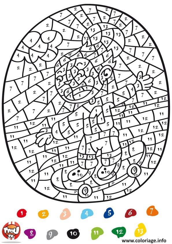 Coloriage Magique Ce2 Addition 147 Dessin Magique À Imprimer à Coloriage Magique Noel Ce2