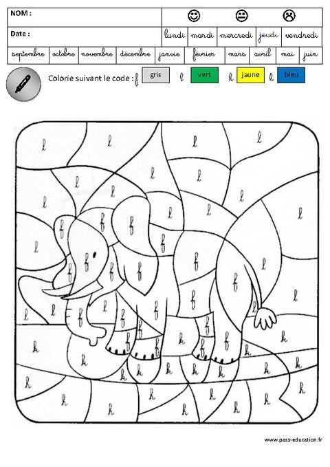 Coloriage Magique Gs Lettres Cursives Unique 98 Best concernant Coloriage Magique Maternelle Grande Section