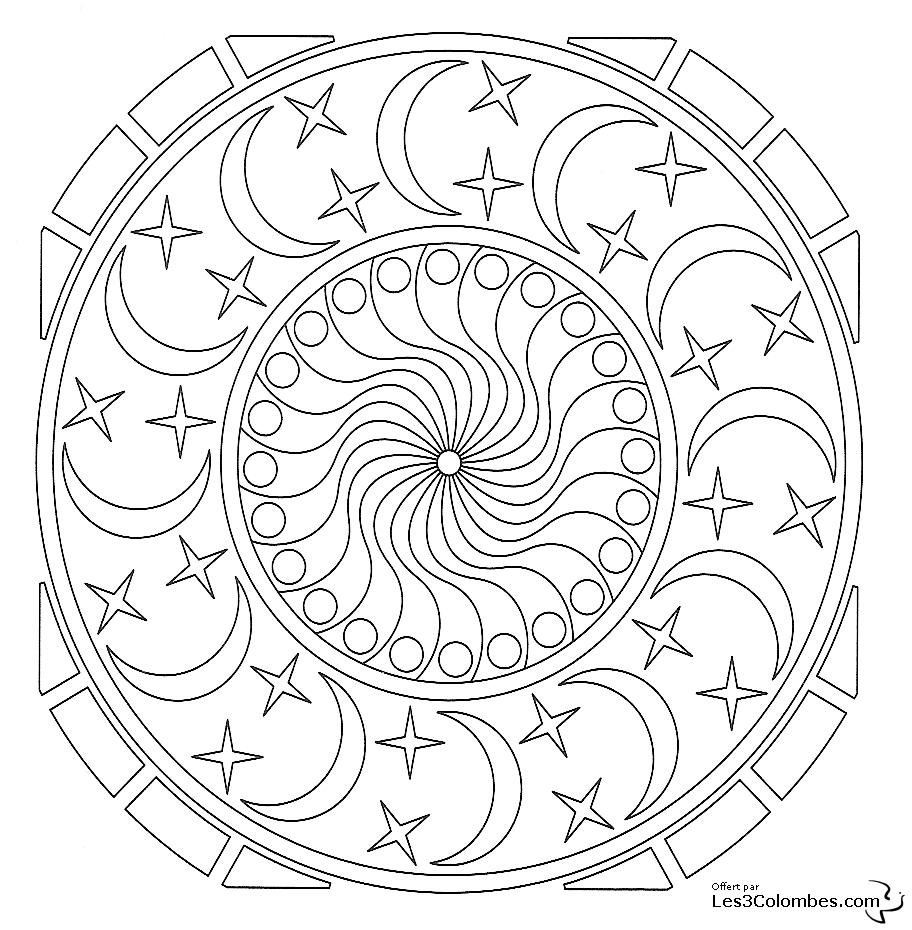 Coloriage Mandala 08 - Coloriage En Ligne Gratuit Pour Enfant pour Coloriage En Ligne Mandala