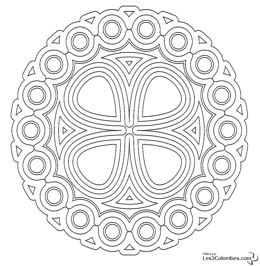 Coloriage Mandala 12 - Coloriage En Ligne Gratuit Pour Enfant concernant Coloriage En Ligne Mandala