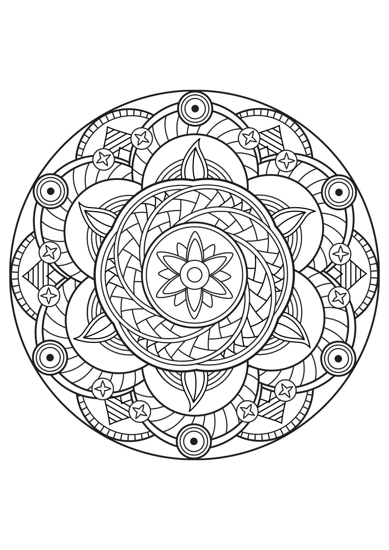 Coloriage Mandala - Coloriages Gratuits À Imprimer pour Coloriage En Ligne Mandala